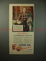 1948 Lipton Tea Ad w/ June Allyson - Gives Me a Lift!!