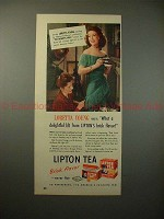 1948 Lipton Tea Ad w/ Loretta Young - A Delightful Lift
