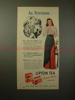 1947 Lipton Tea Ad w/ Barbara Stanwyck - Ah, Yesterday!