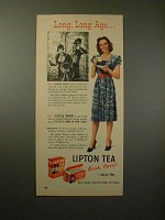 1947 Lipton Tea Ad w/ Teresa Wright - Long, Long Ago!!