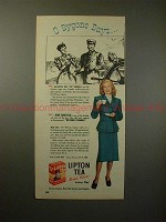 1947 Lipton Tea Ad w/ Joan Caulfield - O Bygone Days!