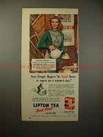 1947 Lipton Tea Ad w/ Ginger Rogers - Flavor is Superb!