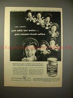 1946 Nescafe Ad w/ Judy Canova - Just Add Hot Water!!