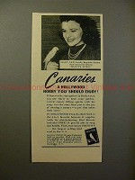 1942 French's Bird Seed Ad - Mary Lee, Hobby you Enjoy!