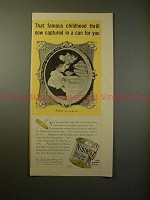 1941 Green Giant Niblets Corn Ad w/ Norman Rockwell!!