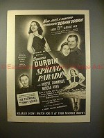 1940 Spring Parade Movie Ad - Deanna Durbin, R Cummings