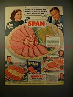 1940 SPAM Ad w/ George Burns & Gracie Allen - Buy Lunch