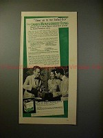 1940 Wesson Oil Ad w/ James Montgomery Flagg, Salad Bar