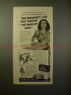 1939 Post Toasties Cereal Ad w/ Joan Bennett - Wake up!