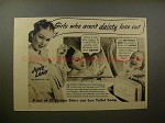 1938 Lux Soap Ad w/ June Lang - Girls Who Aren't Dainty