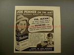 1938 Huskies Cereal Ad w/ Joe Penner - On the Air!!