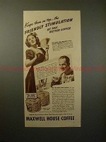 1937 Maxwell House Ad - Jessica Dragonette, Henry Hull!