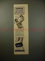 1937 Huskies Cereal Ad w/ Olin Dutra - Build Muscle!!