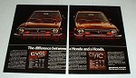 1975 Honda Civic & Civic CVCC Car Ad - Difference!