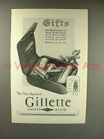 1923 Gillette Safety Razor Ad - Gifts!