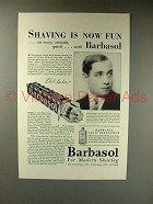 1930 Barbasol Shaving Ad w/ Phil Baker - Shaving Fun!