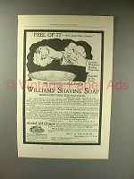 1897 Williams Shaving Soap Ad - Feel of It!