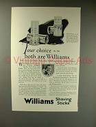 1925 Williams Holder Top, Doublecap Shaving Stick Ad