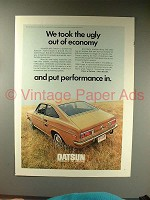 1971 Datsun 1200 Coupe Car Ad - Ugly out of Economy