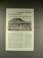 1930 Ford Plane Ad - Flying Down to Ecuador!