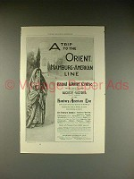1899 Hamburg-American Line Cruise Ad - Trip to Orient