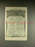 1902 Hamburg-American Line Ad - Grand Cruises!