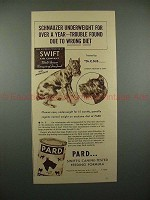 1937 Pard Dog Food Ad w/ Schnauzer - Underweight, Year!