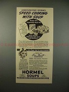 1936 Hormel Soup Ad w/ Joan Bennett - Speed Cooking!!