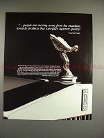 1987 Rolls-Royce Car Ad - Quote by Yankelovich Study!!
