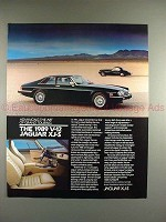 1989 Jaguar XJ-S XJS Car Ad - Advancing Grand Touring!!