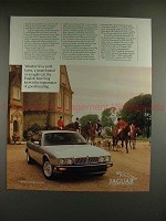 1989 Jaguar XJ6 Car Ad - A Swift Horse, A Smart Hound!!