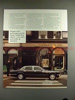 1989 Jaguar Vanden Plas Car Ad - Elegance & Performance
