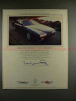 1989 Aston Martin Lagonda Car Ad - Built to Order!!!