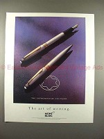 1990 Montblanc Solitaire Pen Ad - Extraordinary!!