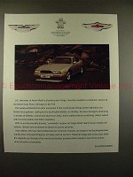 1990 Aston Martin Virage Car Ad - Deliveries Stunning!!