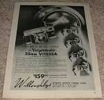 1953 Voigtlander Vitessa Camera Ad - Action!