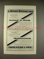 1925 Thos. Cook & Son Cruise Ad - Franconia, Homeric