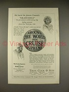 1925 Thos. Cook & Son Cruise Ad - Franconia, Homeric - Around the World