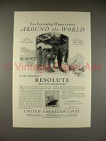 1925 United American Lines Resolute Steamship Ad!