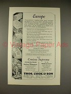 1926 Thos. Cook & Son Cruise Ad - Franconia, Homeric - Europe