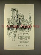 1927 Thos. Cook & Son Homeric Cruise Ad - Egypt