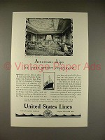 1928 United States Lines S.S. Leviathan Cruise Ad
