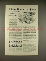 1929 American Mail Line Cruise Ad - Plan Days in Java
