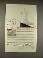 1929 United States Lines Cruise Ad - Leviathan