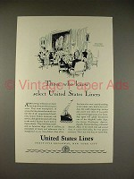 1929 United States Lines Cruise Ad - S.S. Leviathan