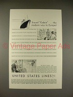 1930 United States Lines Ad - George Washington