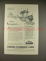 1930 Canada Steamship Lines Ad - First Voyageurs