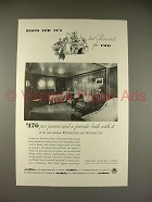 1933 United States Lines Cruise Ship Ad - Room for 10