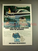 1977 OMC Stern Drive Motor Ad - Know Difference!