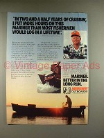1981 Mariner Outboard Motor Ad - Years of Crabbin
